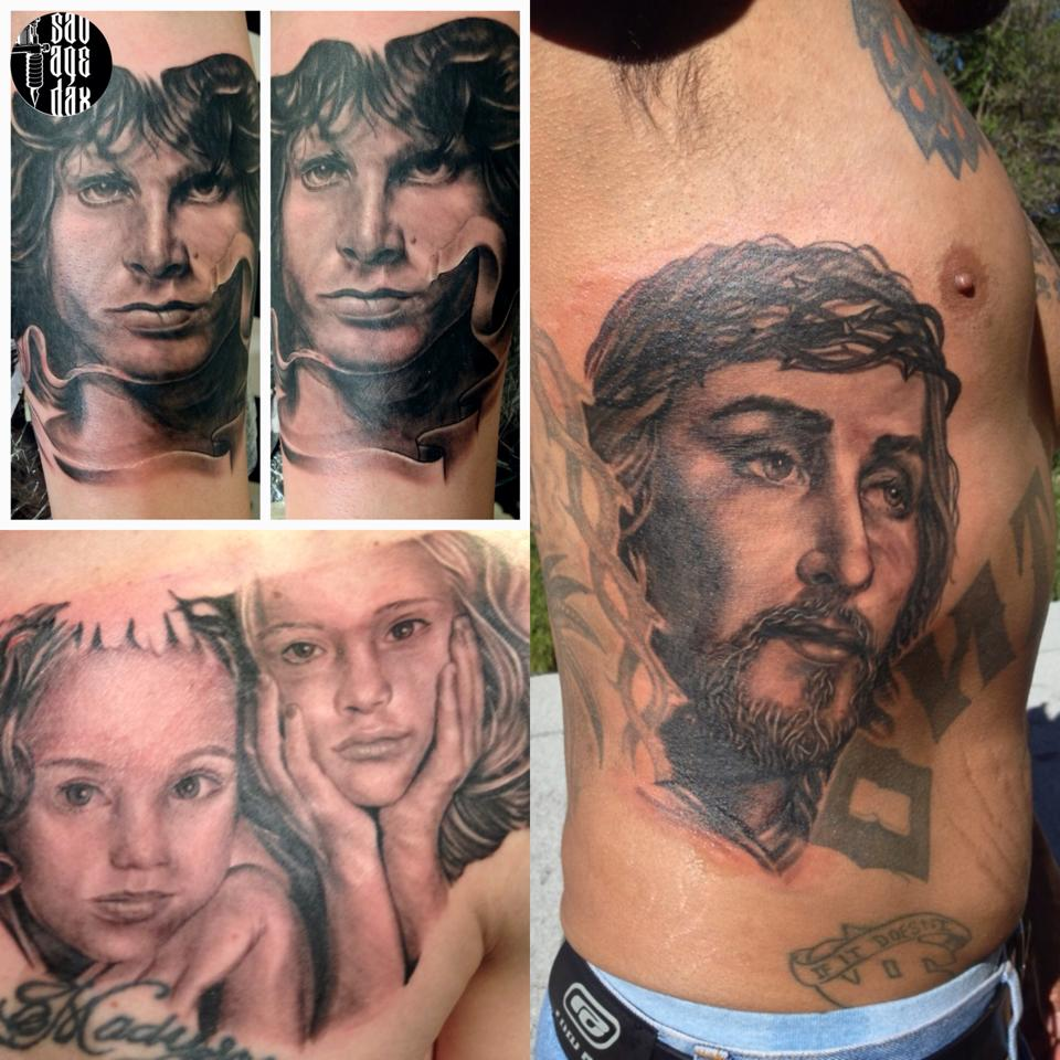 How to tattoo black and grey portraits quick tips for the for Should you tip a tattoo artist